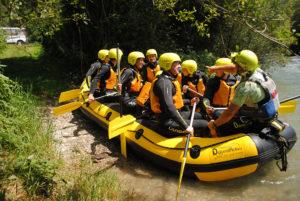 Sicherheitseinweisung Rafting